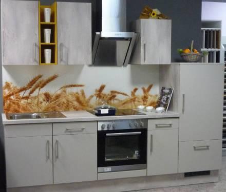 Einbauküche 220 cm breit